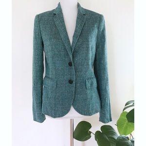 Rag & Bone Turquoise Marled Buttons Blazer Jacket